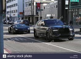 all black lamborghini james stunt driving in his black lamborghini aventador in beverly