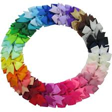 bows for hair qinghan 40pcs 3 grosgrain ribbon pinwheel boutique
