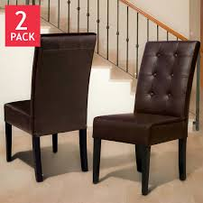 Brown Leather Dining Chairs With Nailheads Dining Chairs Costco