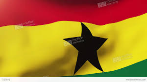 Flag Yellow Sun Ghana Flag Waving In The Wind Looping Sun Rises Style Animation