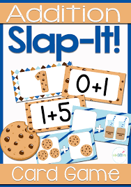 addition fact family card cookie theme