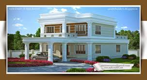 Flat Style Kerala Home Design House Plans