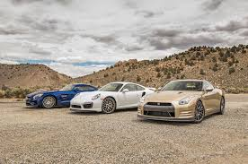 nissan gtr skyline 2015 mercedes amg gt s vs porsche 911 turbo s vs nissan gt r 45th