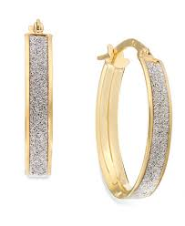 oval hoop earrings glitter oval hoop earrings in 14k gold earrings jewelry