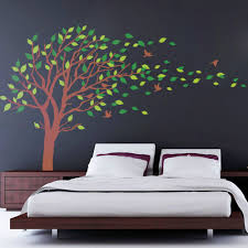 online get cheap kids bedroom wallpaper tree aliexpress com large size big green tree pvc wall sticker kids room living room bedroom home decor