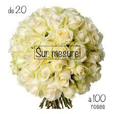 fleurs blanches mariage bouquet de roses blanches sur mesure livraison bouquet sur