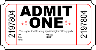 birthday invitation ticket alanarasbach com