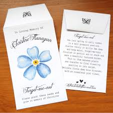 forget me not seed packets forget me not flower bespoke