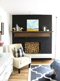 How To Update Brick Fireplace by Painted Brick Fireplace Brick Fireplace Black And Paint Brick