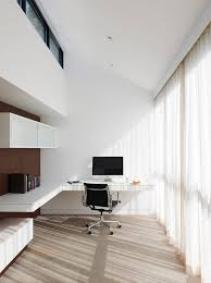 floating desk design white minimalist home office design with floating desk imac and nice