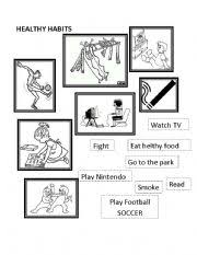 english teaching worksheets healthy habits
