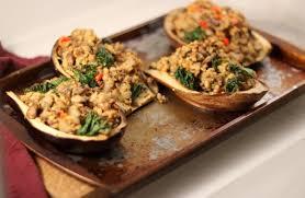 vegetarian stuffed eggplant dietitian debbie dishes