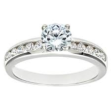 engagement ring uk citerna silver cz engagement ring with cz shoulders co uk