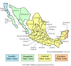 me a map of mexico mexico zones