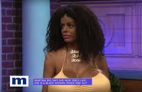 martina big this white woman turned herself u0027black u0027 and it u0027s just too f cking