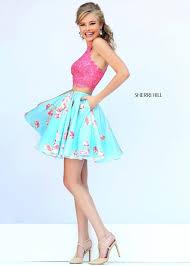 2015 cheap sale sherri hill 32245 floral cocktail dress prom dress