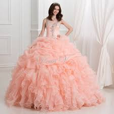 quinceanera dresses coral aliexpress buy coral quinceanera dresses gown 2017 new
