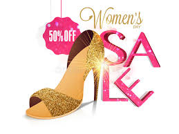 s day clearance sale poster banner or flyer for women s day stock illustration