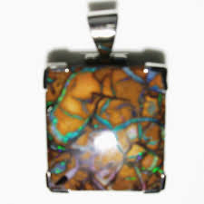 matrix opal green solid boulder matrix opal pendant sunriseopals