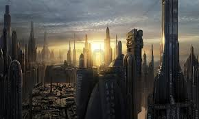 star wars murals wallpapers group 52 star wars coruscant buildings sunset wall mural photo