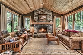 rustic livingroom furniture rustic living room with carpet ceiling fan in oak harbor wa