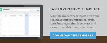 Hotel Inventory Spreadsheet by How To Do Liquor Inventory Your Bar S By Guide Bevspot