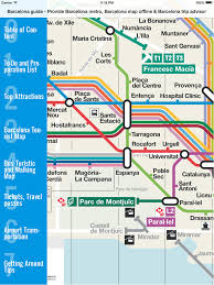 Walking Map App Barcelona Travel Guide And Offline Map Metro Barcelona Subway