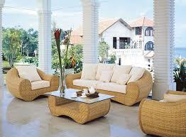 Furniture Comfortable Rattan Patio Furniture  Seater Outdoor - Round outdoor sofa 2