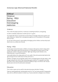 Resume In English Examples by Gaming Ethical Issues