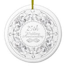 25th wedding anniversary christmas ornament filigree ornaments keepsake ornaments zazzle