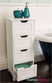 Freestanding Bathroom Furniture White White Freestanding Bathroom Cabinet 4 Drawer Storage