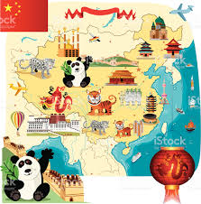Beijing China Map by Cartoon Map Of China Stock Vector Art 165969725 Istock