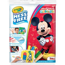 crayola color disney mickey mouse clubhouse coloring book