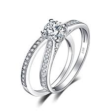 Engagement Rings And Wedding Band Sets by Amazon Com Jewelrypalace 1 3ct Cubic Zirconia Anniversary Wedding