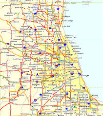 chicago map printable chicago illinois map