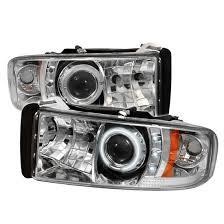 2001 dodge ram 2500 headlight assembly 94 01 dodge ram 1500 chrome ccfl halo led projector headlights