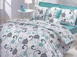 Gray And Teal Bedroom by Modern Bedroom Interior With Teal White Grey Swirl Comforter Sets