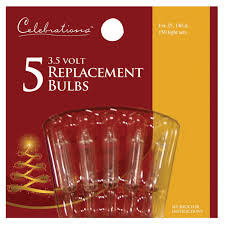 celebrations clear 3 5v mini replacement bulbs replacement bulbs
