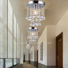 Crystal Flush Mount Ceiling Light Fixture by Flush Mount Ceiling Light Foyer E14 Lamp Holder