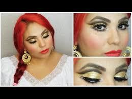 folklorico earrings folkló makeup tutorial brown gold