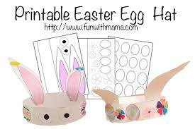 printable easter egg and bunny hat fun with mama