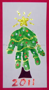 Arts And Crafts Christmas Cards - adorable handprint christmas tree handprint christmas tree