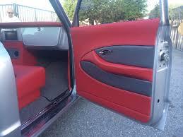 70 chevy truck grey silver red black custom interior door panels