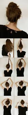 juda hairstyle steps super easy knotted bun updo and simple bun hairstyle tutorials