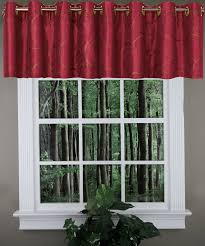 Burgundy Curtains With Valance Sinclair Lined Grommet Valance Burgundy United Kitchen Valances