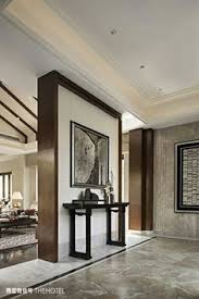 Contemporary Interiors Entryway Large Painting Wall And Leave Back Part Of The Room
