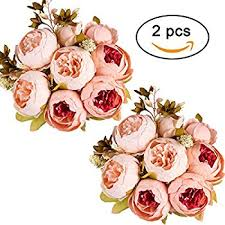silk flower bouquets luyue vintage artificial peony silk flowers bouquet