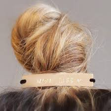 hair cuff bun elastic tie with gold cuff sted with
