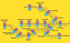 Metro Link Map by Timperley Men Can Expect To Live Three Years Longer Than