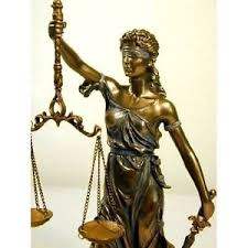 blind justice statue scale bronze finish lawyer gift office
